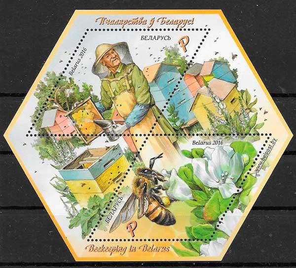 sellos filatelia fauna 2016 Bielorrusia