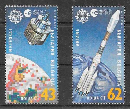 colección sellos tema Europa Bulgaria 1991