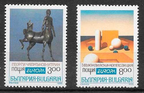 sellos tema Europa Bulgaria 1993
