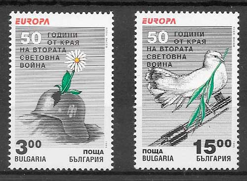 sellos tema Europa Bulgaria 1995