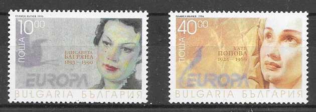 sellos tema Europa 1996