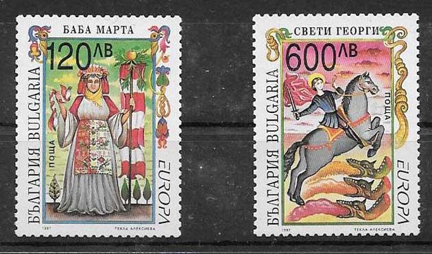 sellos Tema Europa Bulgaria 1997