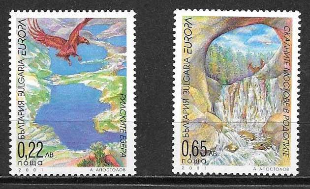 sellos Tema Europa Bulgaria 2001
