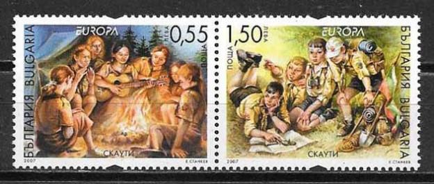 Filatelia Tema Europa Bulgaria 2007