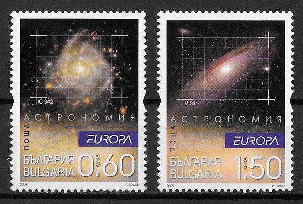 colección selos Europa 2009 Bulgaria