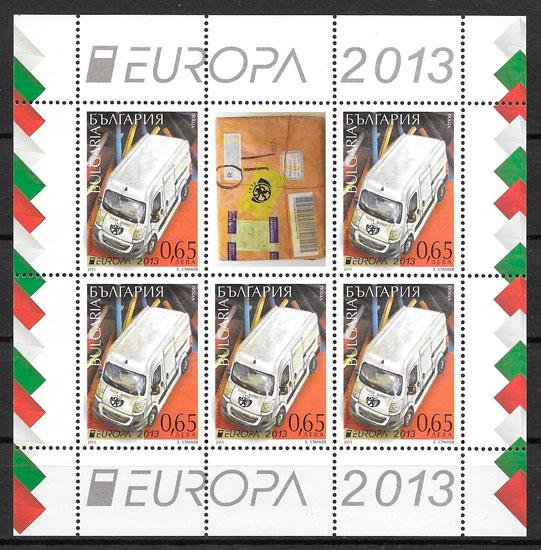 filatelia colección Europa Bulgaria 2013