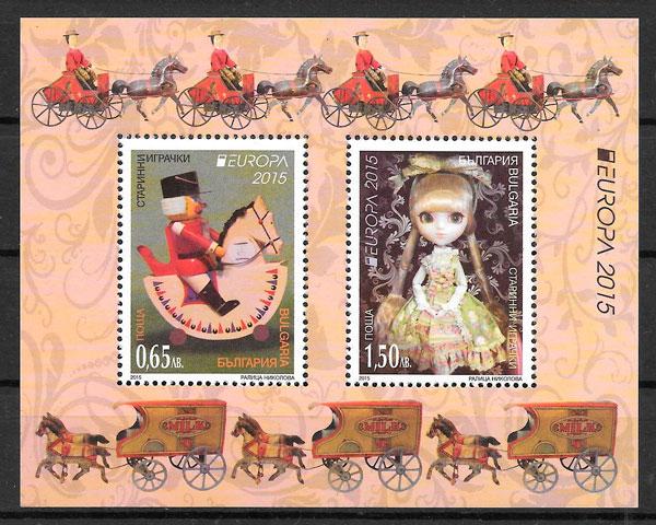 colección sellos Europa Bulgaria 2015