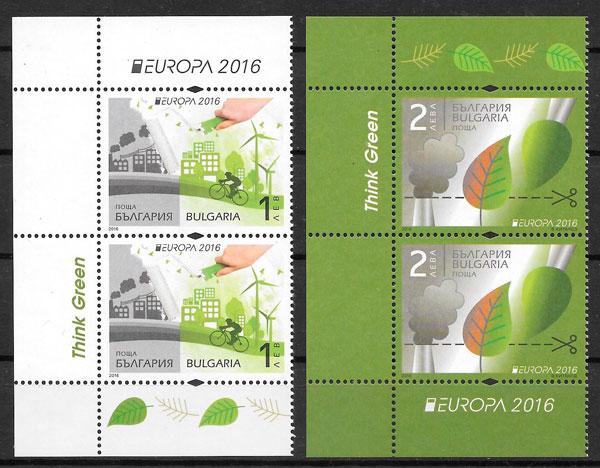 colección sellos Europa Bulgaria 2016