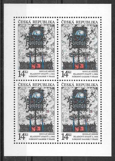 sellos tema Europa Chequia 1993