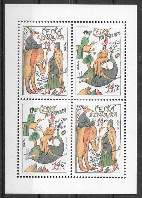 filatelia tema Europa Chequia 1994