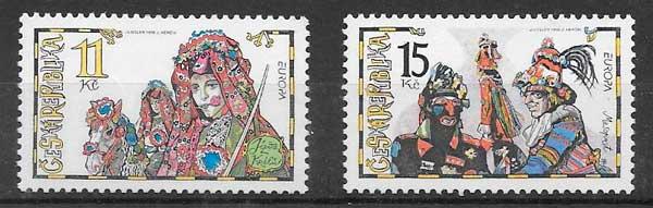 filatelia tema Europa Chequia 1998