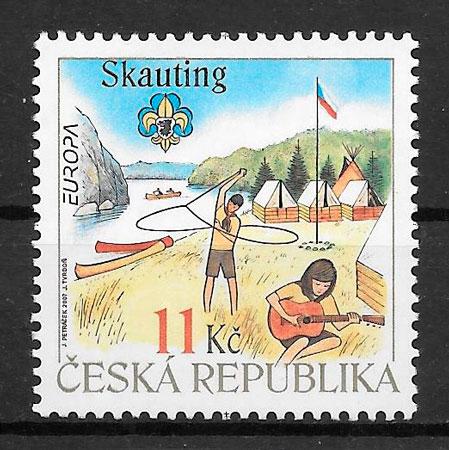 sellos Europa Chequia 2007