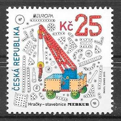 filatelia tema Europa Chequia 2015