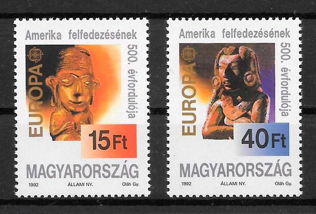 sellos Europa Hungría 1992