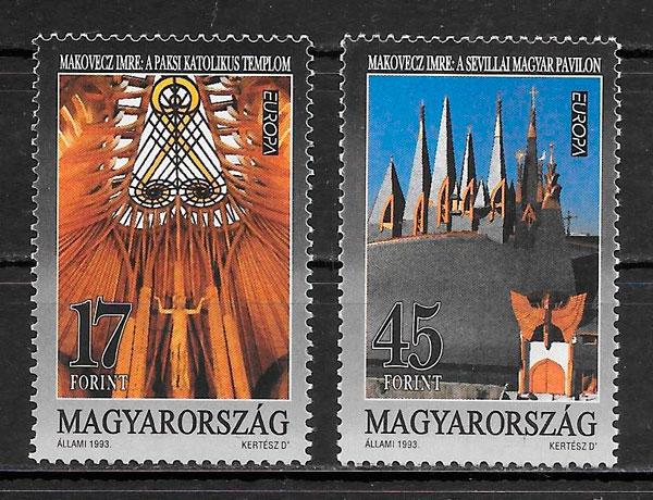 filatelia colección Europa Hungría 1993
