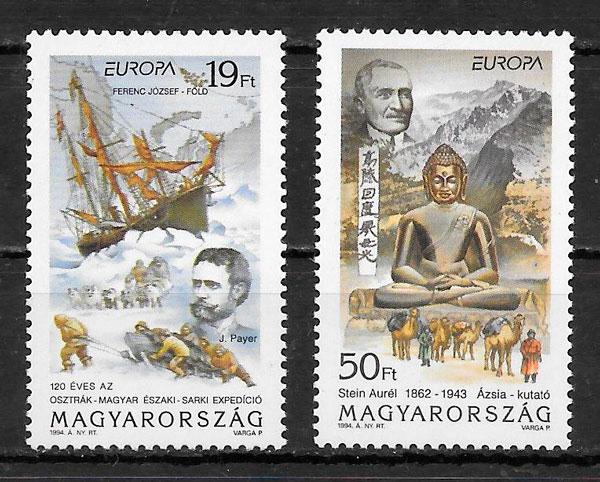 colección sellos Europa Hungría 1994