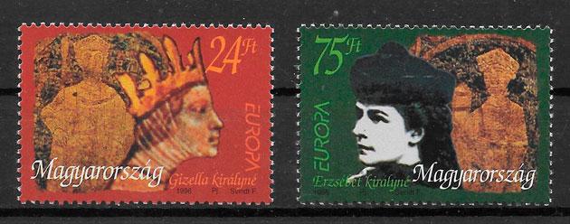 colección sellos Europa Hungría 1996