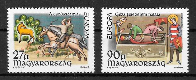 colección sellos Europa Hungría 1997
