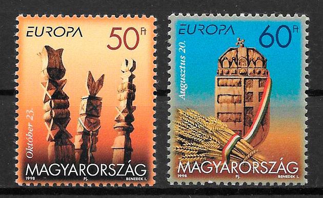 filatelia Europa 1998 Hungría