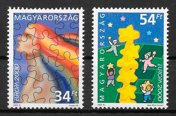 filatelia colección Europa Hungría 2000