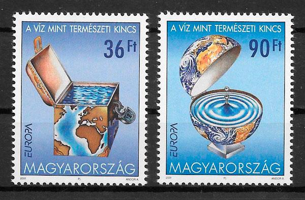 filatelia colección Europa Hungría 2001