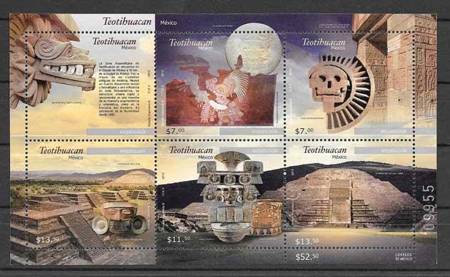 Estampillas Arqueología de Teotihuacán