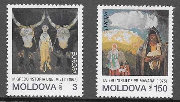 sellos Filatelia Tema Europa Moldavia 1993
