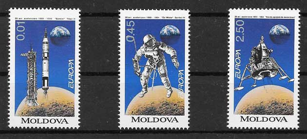 sellos Tema Europa 1994 moldavia