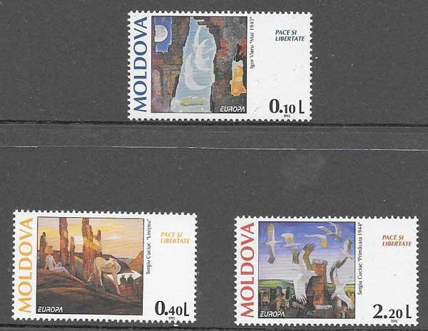 sellos Tema Europa Moldavia 1995