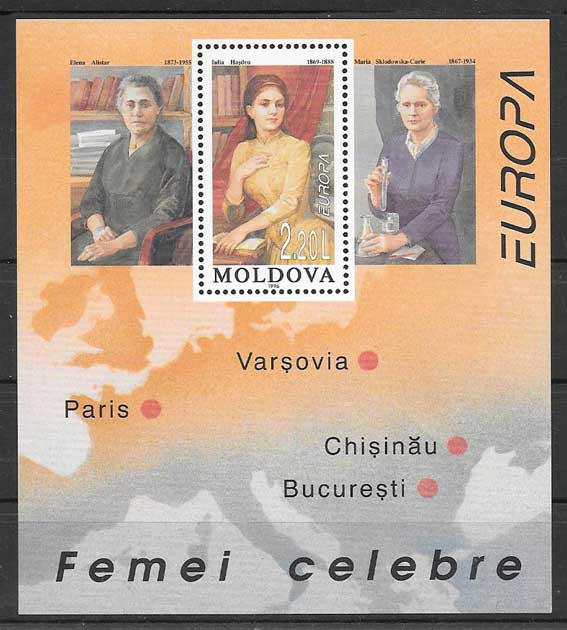 sellos Tema Europa Moldavia 1996