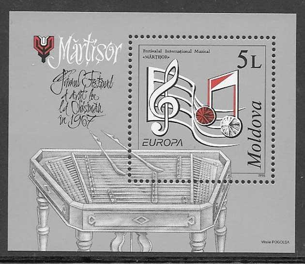 sellos Tema Europa Moldavia 1998