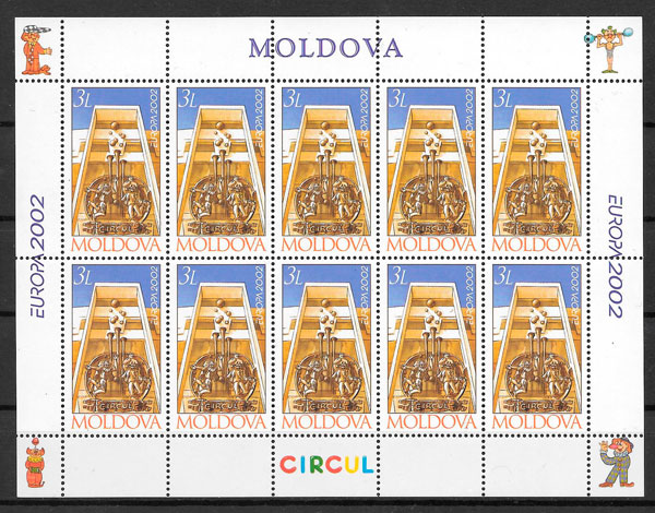sellos Europa Moldavia 2002