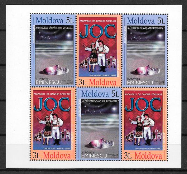 sellos Europa Moldavia 2003