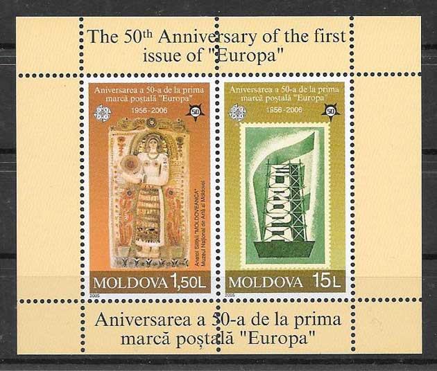 Colección de sellos Tema Europa Moldavia 2005
