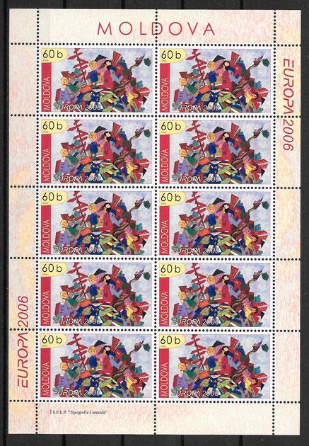 filatelia Europa Moldavia 2006