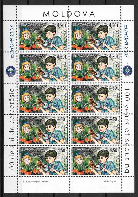 filatelia colección Europa Moldavia 2007