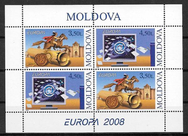 filatelia colección Europa Moldavia 2008
