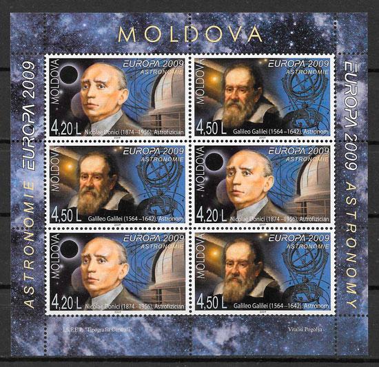 colección sellos Europa Moldavia 2009