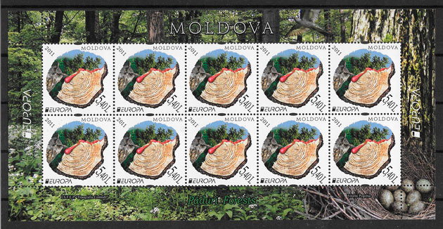 sellos Europa Moldavia 2011
