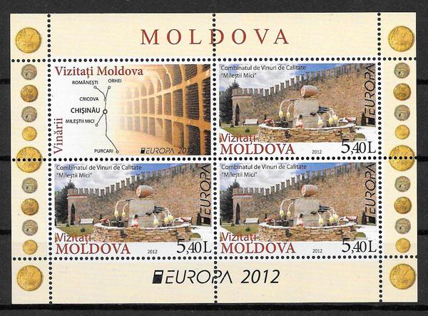 filatelia Europa Moldavia 2012
