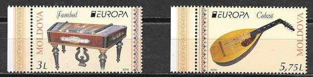 sellos Tema Europa Moldavia 2014