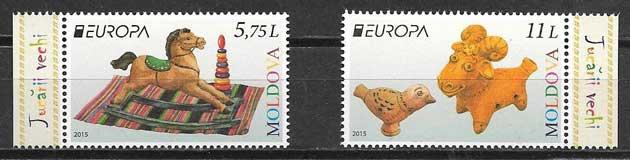 sellos Tema Europa 2015 Moldavia