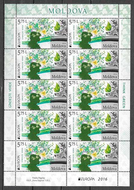 colección sellos tema Europa Moldavia 2014