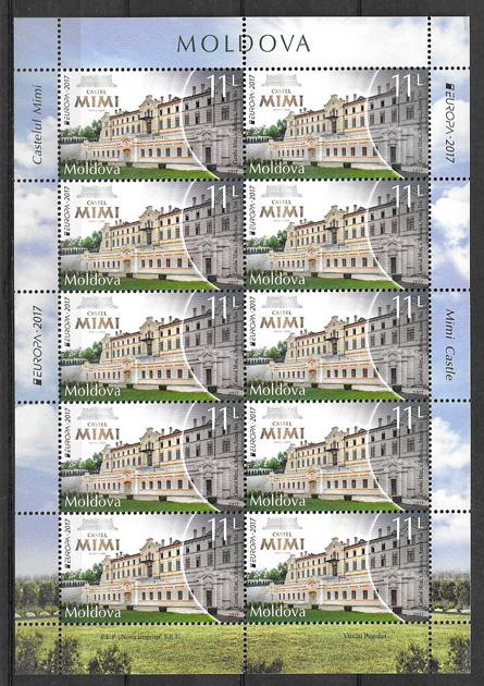 colección sellos tema Europa Moldavia 2017