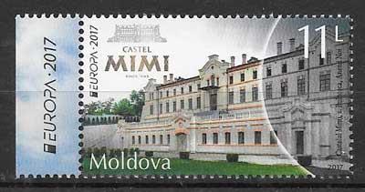 filatelia tema Europa Moldavia 2017