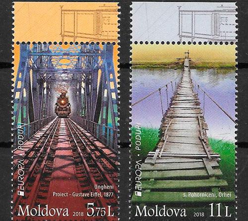 filatelia colección Europa Moldavia 2018