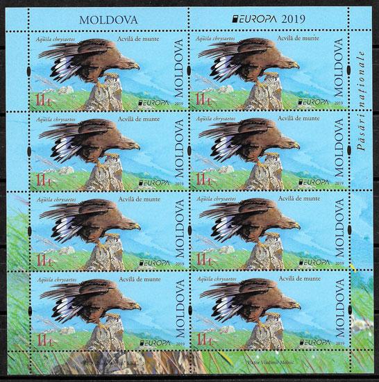 colección sellos Europa Moldavia 2019