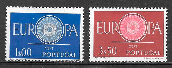 sellos Europa Portugal 1960