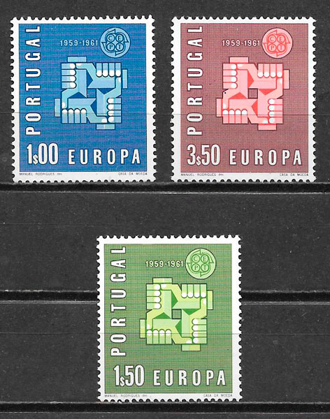 sellos Europa Portugal 1961