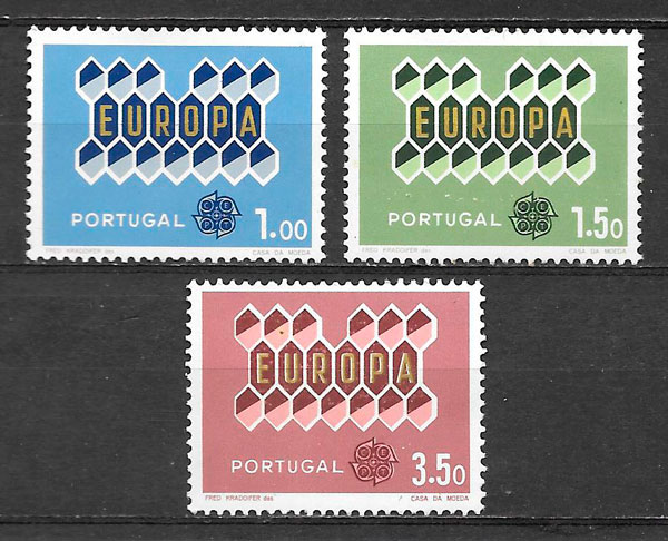 sellos Europa Portugal 1962